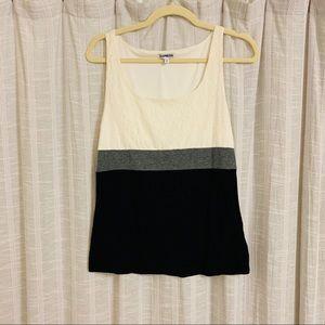 Express Color Black Lace Tank Top